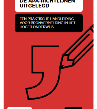 2e editie van 'De APA-richtlijnen uitgelegd' is beschikbaar