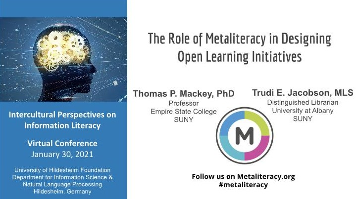 Keynotelezing: the role of metaliteracy in designing open learning initiatives